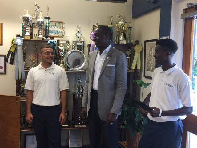 Milt Newton inspires students at seven schools