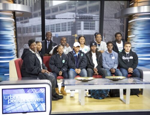 Milt Newton and Emerald Gems Foundation Visit the Set of WCCO